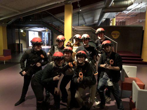 Lasergame teamuitje op de club