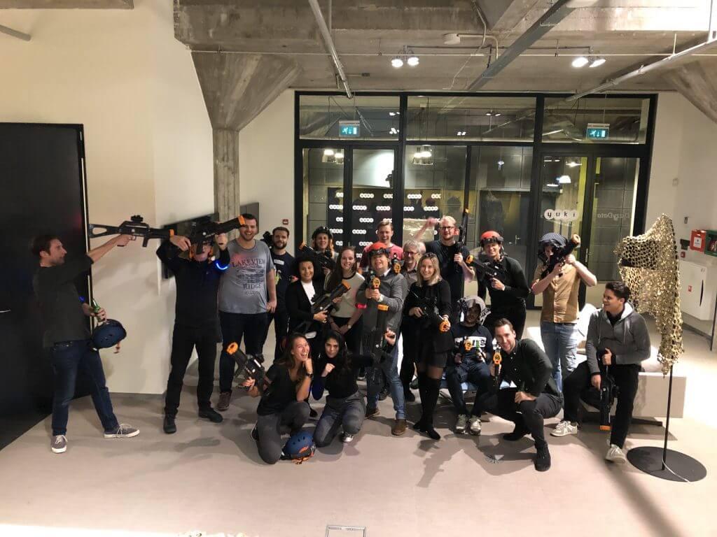 Lasergamen in Rotterdam bedrijfsuitje